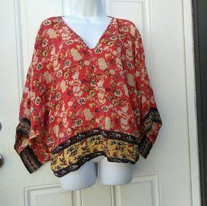 Tolani Silk Kimono Floral Tunic